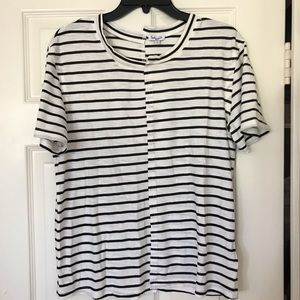 Splendid Black & White Striped Tee (Size Small)